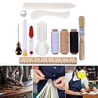 23Pcs Multi-function Bookbinding Starter Tools Set Kit Folder Paper Leathercraft