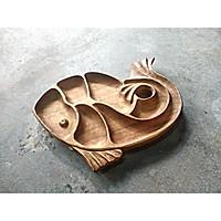 Khay mứt gỗ Gõ Handmade hình cá