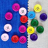 Set Cúc Áo Nhiều Màu 2cm (15 - 20 cái) Trang Trí Thủ Công Handmade - Màu Ngẫu Nhiên