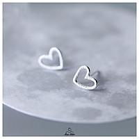 Khuyên tai bạc Miuu Silver, bông tai nữ trái tim Blink Heart