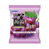 Thạch hoa quả Orihiro  vị nho tím  túi nhỏ 6 chiếc