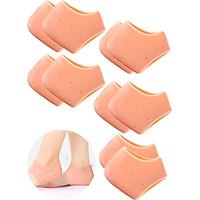 Combo 5 cặp vớ bọc gót chân silicone chống nứt nẻ chống bong tróc da và giúp làm hồng gót sen - buybox - BBPK68_5