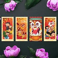 Bao Lì Xì - Bộ combo Lân mừng Xuân sang - năm mới bình an