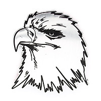 Sticker hình dán metal Eagle Head