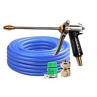 Bộ dây và vòi xịt tăng áp lực nươc 300%  318576  (cút đồng - dây xanh)