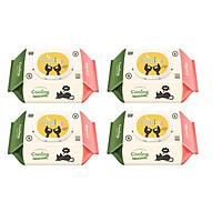 Combo 4 gói khăn ướt không mùi COOING 100 tờ - Hàn Quốc
