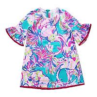 Đầm Suông Bé Gái Tay Loe Vệt Màu CucKeo Kids T91835