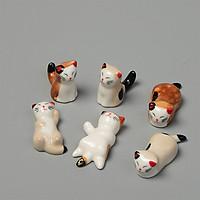 Combo 6 gác đũa bàn ăn gốm sứ hình mèo nhật (không chọn mẫu giao mẫu ngẫu nhiên)