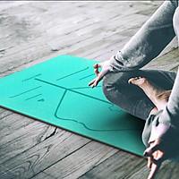 Thảm tập yoga định tuyến 6mm TPE  kèm túi đựng