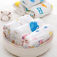 Set 5 khăn sữa 6 lớp dòng xô nhăn siêu thấm (30 x 30 cm / Khăn)
