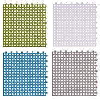 Bộ 4 tấm thảm ghép chống trượt phòng tắm 30x30cm (Màu ngẫu nhiên)