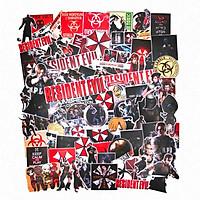 Set 100 sticker hình dán mũ bảo hiểm laptop - Resident Evil Game