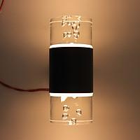 Đèn trang trí gắn tường giọt nước pha lê 2 đầu 12w ánh sáng vàng