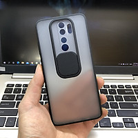 Ốp lưng cho Xiaomi Redmi Note 8 Pro nhám viền màu trượt camera