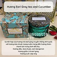 Nến thơm EarlGrey Tea & Cucumber với 3 tầng hương