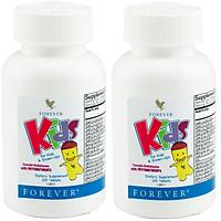 Combo thực phẩm chức năng 2 Hũ viên ngậm đa vitamin cho trẻ em Forever Kids (#354)