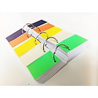 1000 thẻ flashcard trắng 5x8cm(góc vuông) tặng kèm 10 khoen inox+ 20 bìa màu cứng dày học ngoại ngữ