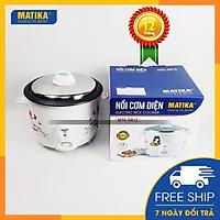 Nồi cơm điện MATIKA nắp rời 1,2l - 500w thiết kế xinh xắn MTK-DR12 - Hàng chính hãng