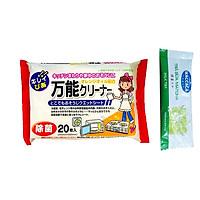 Combo Giấy Ướt Lau Bếp Từ, Lò Vi Sóng Chuyên Dụng Nhật Bản + Gói Trà Sữa Matcha / Cafe Macca
