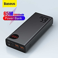 Pin sạc dự phòng Baseus Adaman Digital Display Quick Charge Power Bank 20000mAh 65W - Hàng Chính Hãng