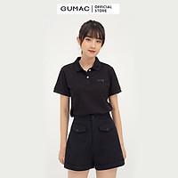 Áo polo nữ GUMAC ATB814 thêu chữ phong cách trẻ trung, năng động