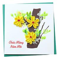 Thiệp Giấy Xoắn Năm Mới Việt Net VN1NY110017C1 (10 x 10 cm)