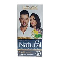 Nhuộm Phủ Bạc Cao Cấp Siêu Dưỡng,Tự Nhiên - Lavox 40  ML - N.681-Intensive Black-Đen