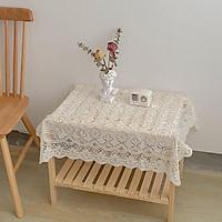 Khăn bàn ren hoa trắng - decor đẹp