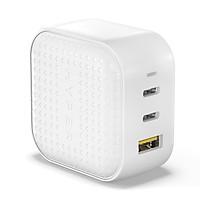 Sạc Đa Cổng Cho Macbook/ iPad/ iPhone HYPERJUICE GaN 66W Charger (2 x USB-C; 1 USB-A) Nhỏ Nhất Thế Giới HJ265 - Hàng Chính Hãng