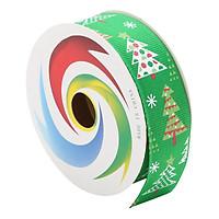 Cuộn Ruy Băng Gân Trang Trí Noel - Hình Cây Thông (3m)
