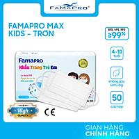 [HỘP - FAMAPRO MAX KID] - khẩu trang y tế trẻ em kháng khuẩn 3 lớp Famapro Max Kid (50 cái/ hộp) - 1 HỘP