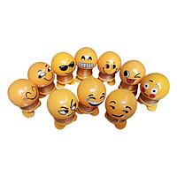 Combo 10 Thú Nhún Lò Xo Emoji Trang Trí - 10 Mẫu Ngẫu Nhiên Khác Nhau