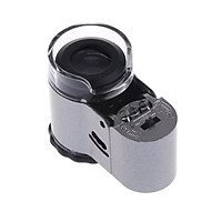 Mini LED Illuminated Magnifying Glass 40X Jewelers Loupe Portable Magnifier with UV Light and Acrylic Scratch Resistant Lens
