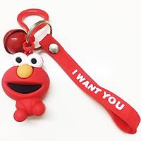 Móc chìa khóa móc khóa dây đeo hình con ếch cao su mềm