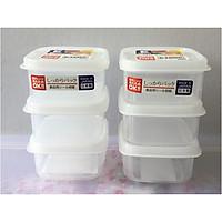 Combo 02 Set hộp nhựa Nakaya 200ml bảo quản thức ăn trong rủ lạnh, có nắp mềm - Nội địa Nhật (03 hộp/Set)