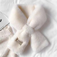 Khăn quàng cổ len lông thỏ phong cách Hàn Quốc cao cấp bốn màu trắng/đen/xám/nâu_LeAu K11