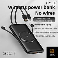 Pin sạc dự phòng không dây CYKE 20000mAh sạc nhanh điện thoại cổng USB Type C-Hàng Chính Hãng