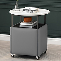 Bộ bàn ghế thông minh phòng ăn phòng khách bàn có bánh xe gế xếp gọn chui và chân bàn - Hàng chính hãng