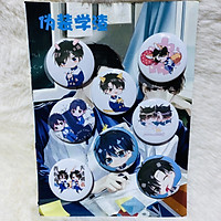 Bảng huy hiệu Ngụy Trang Học Tra 2 Wei zhang xue cha 8 chiếc anime chibi dễ thương pin cài áo