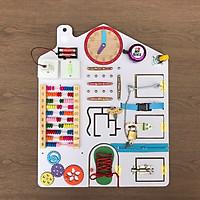 Bảng bận rộn Đồ chơi giáo dục sớm cho bé từ 1 đến 4 tuổi(40x50-trắng)