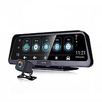 Camera Hành Trình Đặt Taplo Ô Tô Cao Cấp E98 phát wifi trên xe nhờ tích hợp 4G LTE, định vị  GPS ,màn hình 10 inch - Hàng nhập khẩu