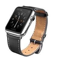 Dây da Qialino cho Apple Watch Hermes style-Hàng Chính Hãng