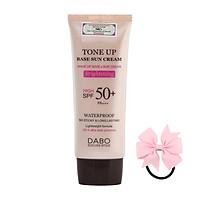 Kem Chống Nắng Kiềm Dầu Nâng Tone Dabo Tone Up Base Sun Cream SPF 50 PA +++(70ml) - [ Tặng dây cột tóc nơ - màu ngẫu nhiên ]