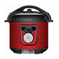 Nồi áp suất đa năng SATO ST-608PC 6.0L (Màu đỏ đen) - Hàng chính hãng