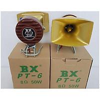 Bộ 2 loa treble cao cấp BX PT6 họng đúc, thiết kế chắc chắn phù hợp với mọi không gian, màu vàng đồng làm tăng sự sang trong cho dàn âm thanh của bạn.