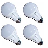 Đèn LED Búp Nhựa Phủ Matt Cao Cấp Bộ 5 Cái Gnesco 7W (sáng trắng)