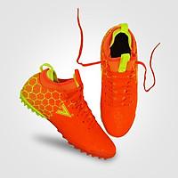 Giày đá banh, giày sân cỏ nhân tạo Mitre 181045 mẫu mới chính hãng giảm chấn hiệu quả đồng thời tăng lực sút màu cam