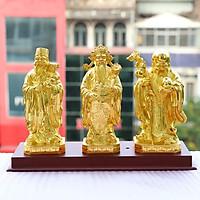 Bọ tượng Tam đa Phúc Lộc Thọ mạ vàng