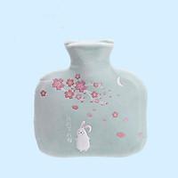Túi Nước Nóng Giữ Nhiệt Chườm Bụng Big Size 1000ml - Vải Nhung Mềm Mại Họa Tiết Chú Thỏ Bông.
