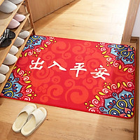 Chinese New Year Welcome Door Rug Non-slip Floor Mat Rectangle Carpet Home Decoration